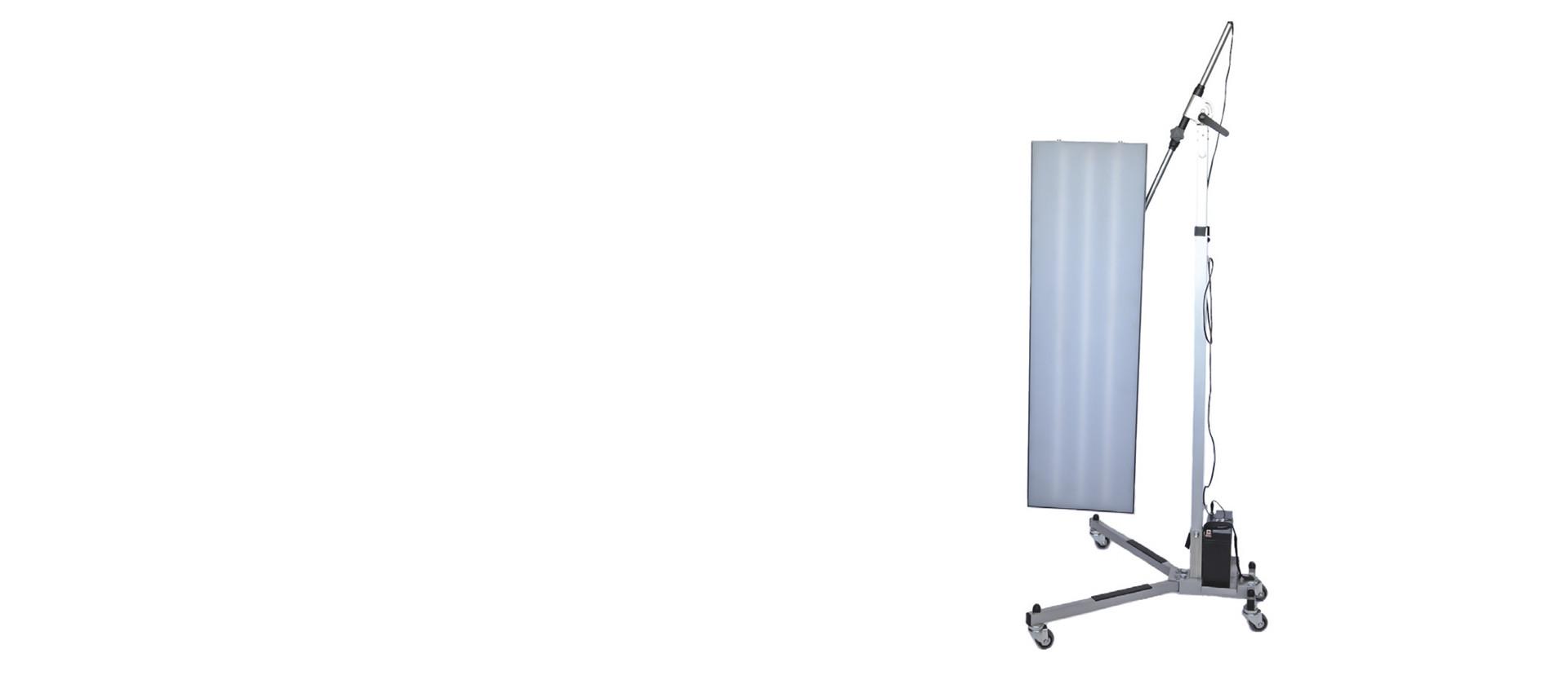 led ausbeullampe mit stativ. Black Bedroom Furniture Sets. Home Design Ideas